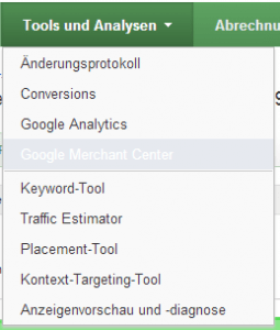 Google Merchant AdWords