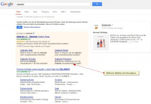 AdWords mit Sitelinks