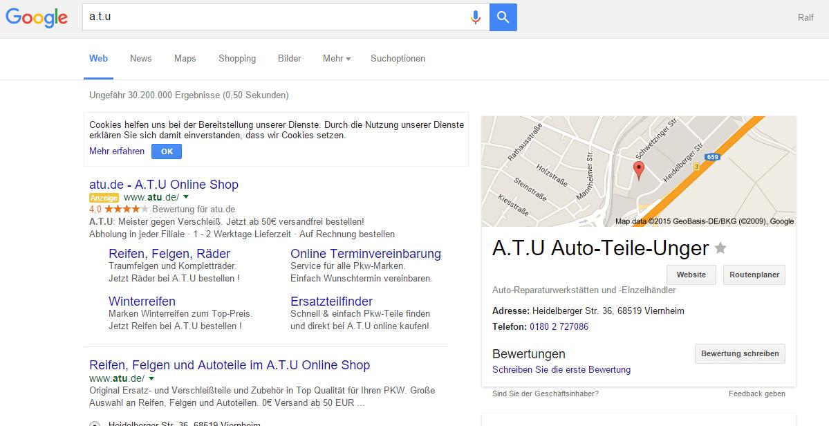 ATU Brand Anzeigen