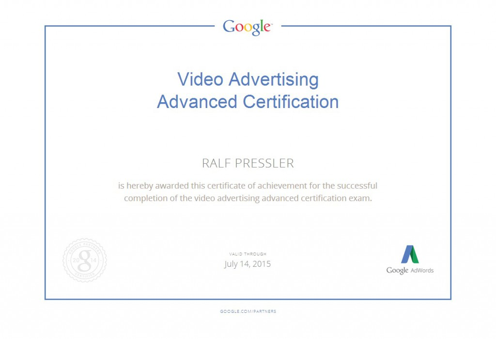 VideoAdvertisingAdvancedCertifiaction